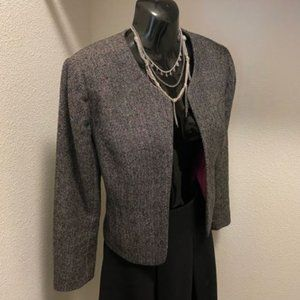 CHELSEA28  cropped open front lined blazer MEDIUM